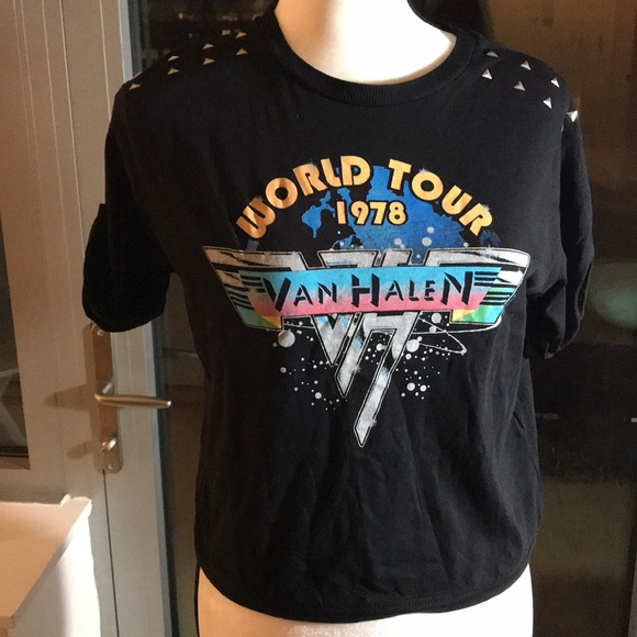 0922e835 Topshop Tops | Nwt Top Shop Van Halen World Tour Tee Shirt Size 6 ...
